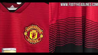 Manchester United 18 19 Home Kit Leaked   Images @ Footyheadlines