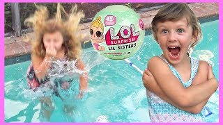 Swimming Pool FAIL LOL Dolls Series 2 | Ava Jumps in the pool and gets SOAKED!