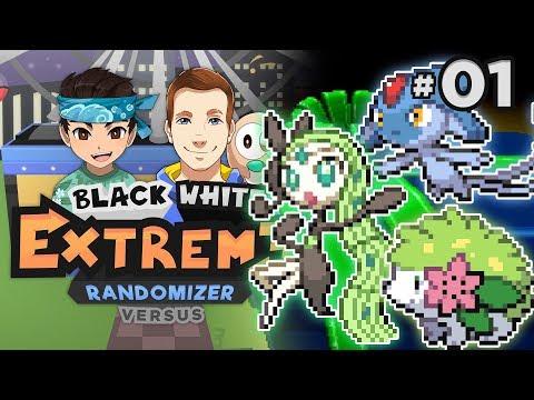 LEGENDARY START! - Pokémon Black & White EXTREME Randomizer Nuzlocke Versus W/ Patterrz! Episode #01