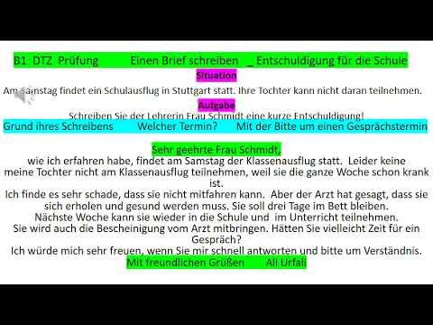 B1 Prüfung Deutsch Lernen Schriftliche Prüfung Einen Brief
