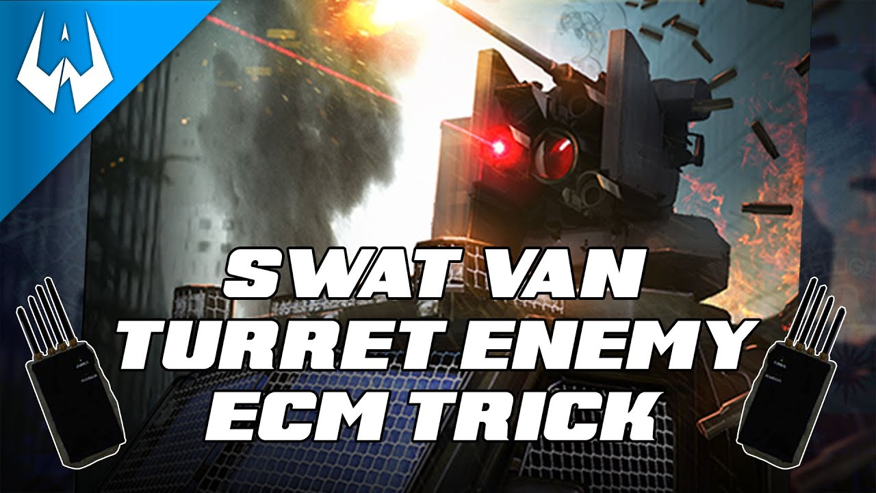 Payday 2 -SWAT Van Turret Enemy - Ecm Trick