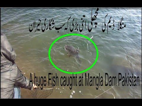 Fishing at Mangla Dam