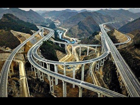 Как делают дороги в горах видео