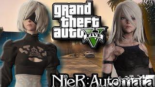 These Girls Straight Killas!   Nier Automata w/ Jumper Mod   GTA 5 MODS (GTA 5 PC Gameplay)