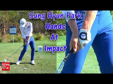 SUNG HYUN PARK - HANDS AT IMPACT (CLOSE UP SLOW MOTION) IRON GOLF SWING CME TIBURON 1080 HD