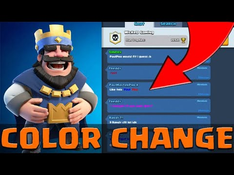How To Make Your Clash Royale Name With COLOR In 2020 😱🎉🔥