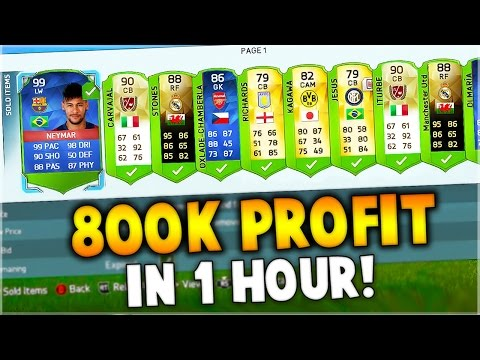 FIFA 16 - 800,000 COINS PROFIT IN 1 HOUR!