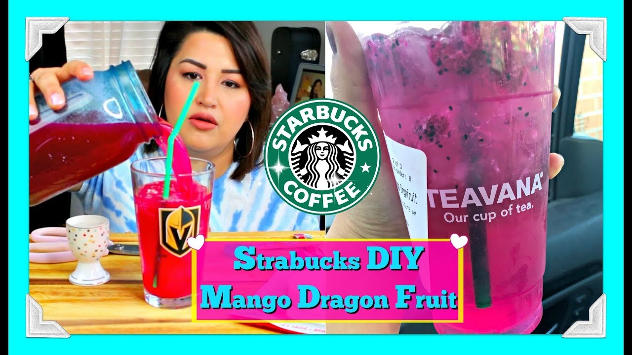 Starbucks Diy Mango Dragon Fruit Refresher Magenta Views Drink
