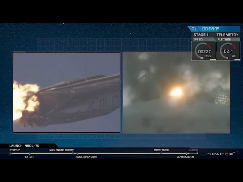 After Successful Launch, Falcon 9 Booster Cam Shows Landing