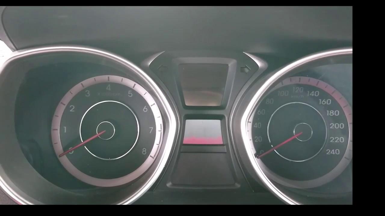Hyundai 2016 Elantra Engine Resetting Adaptive Value - 20160812