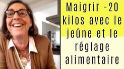 Marie-Françoise, maigrit de 20 kilos avec le jeûne et le réglage alimentaire.