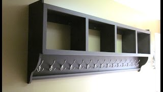 Coat rack with shelves