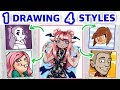 STEALING YOUTUBERS' ART STYLES || Style Challenge!