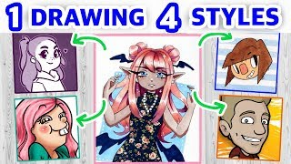 STEALING YOUTUBERS' ART STYLES    Style Challenge!
