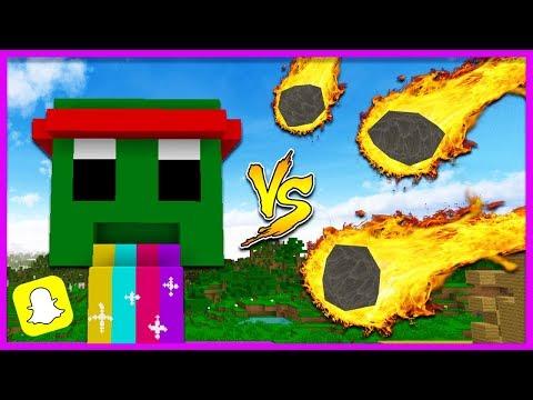 Minecraft - METEOR VS SNAPCHAT FILTER BASE!