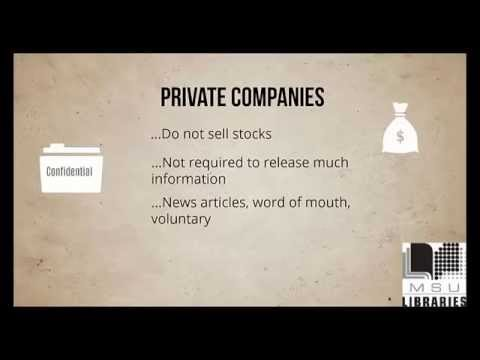 Public and Private Companies