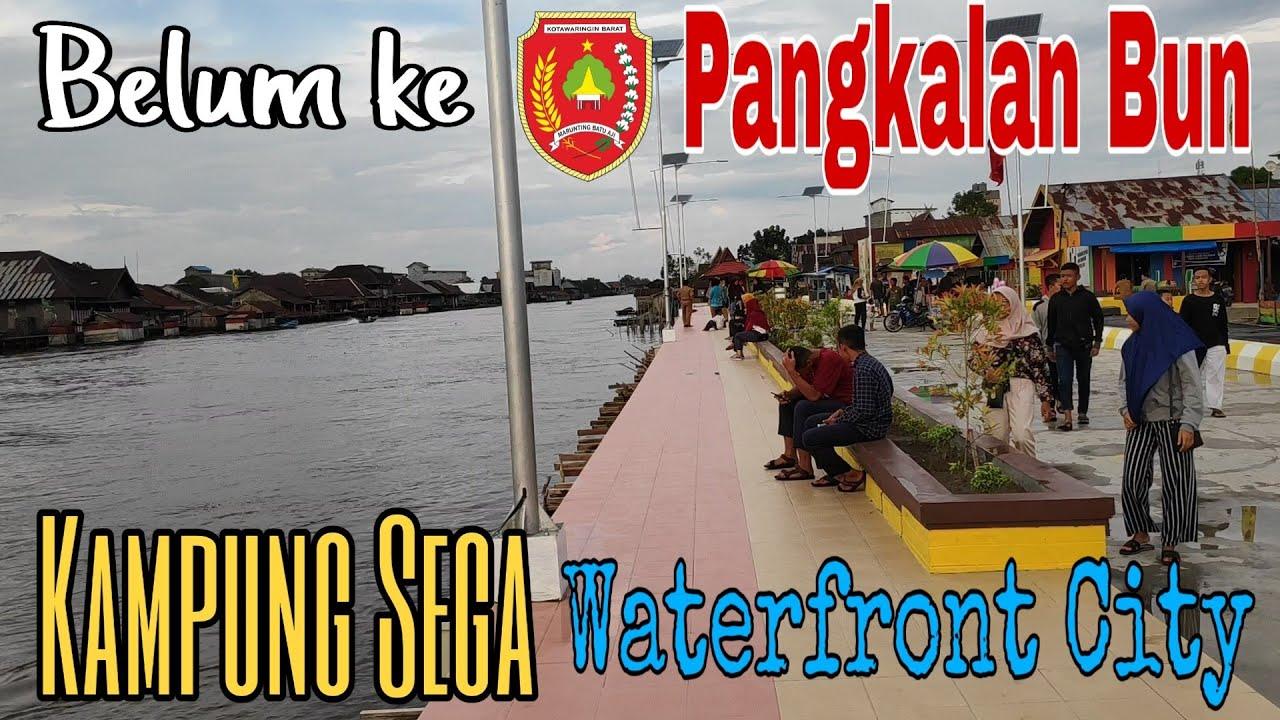 Meriahnya Waterfront City Kampung Sega Wisata Pangkalan Bun