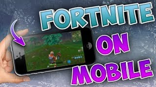 *EARLY* HOW TO DOWNLOAD FORTNITE BATTLE ROYALE ON MOBILE (IOS/ANDROID) DEVICES!!
