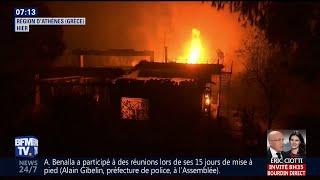 En Grèce, les feux de forêt autour d'Athènes ont fait au moins 24 morts