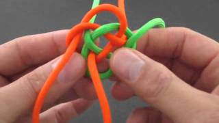 How to Make a Double (2-Strand) Diamond Knot by TIAT
