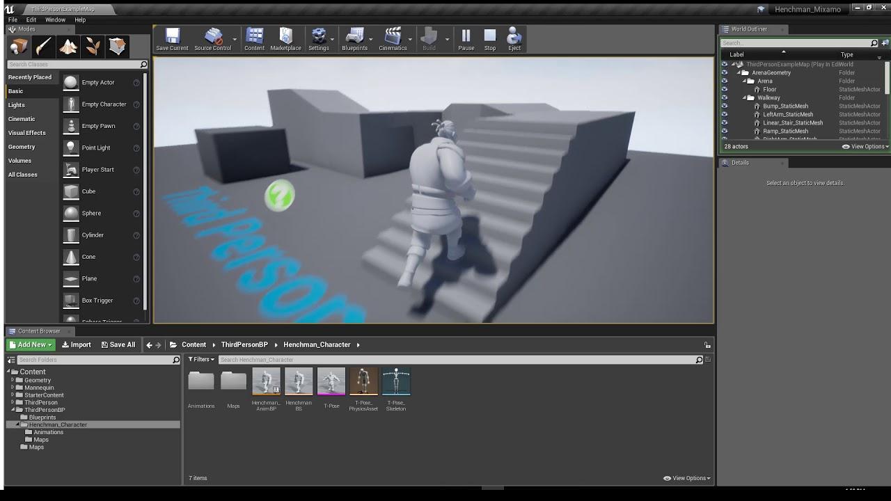 Ue4 mixamo animation blueprint youtube ue4 mixamo animation blueprint malvernweather Choice Image