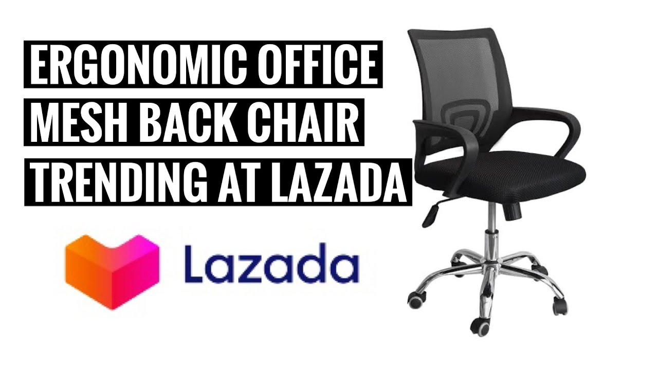 Ergodynamic Office Chair Ergonomic How To Unboxing Lazada Youtube