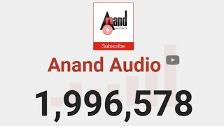 Anand Audio Live Subscriber Count !!!