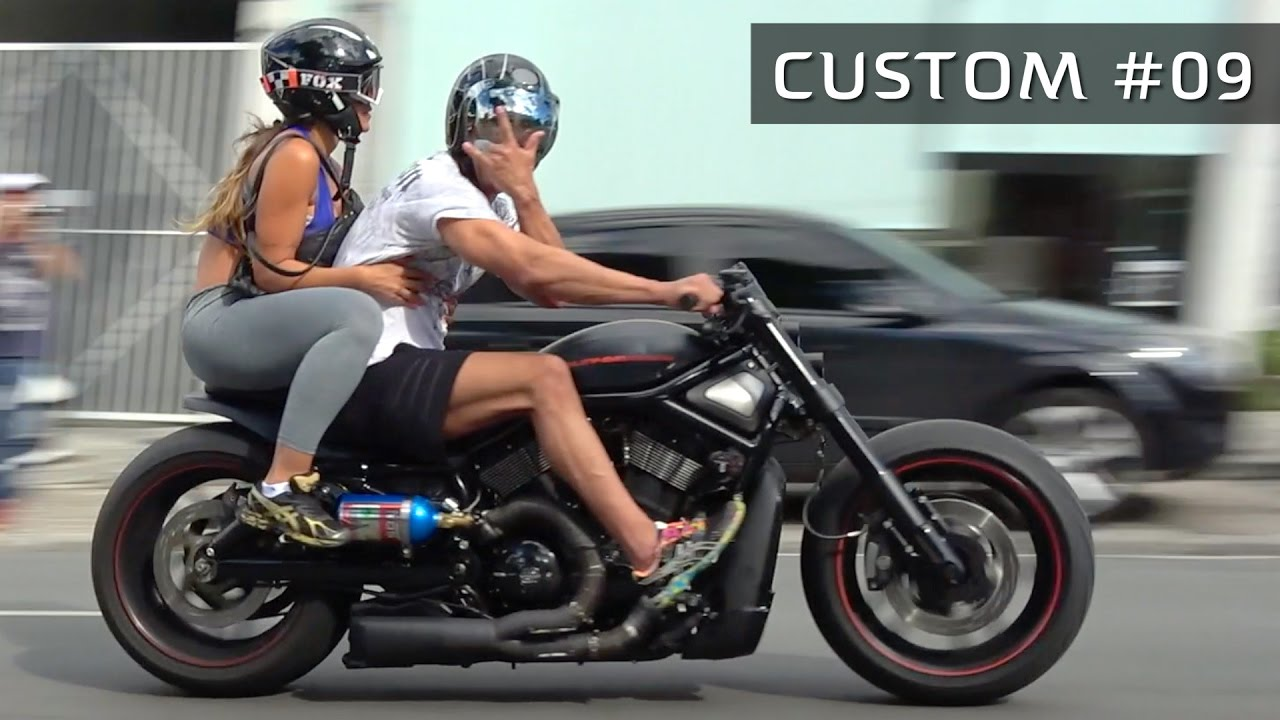 2004 Road King >> CUSTOM #09 - Harley Davidson V-Rod, 883 Iron e + motos custom! - YouTube