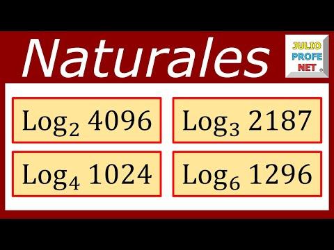 Logaritmos en los Naturales - Ejercicios 1, 2, 3 y 4