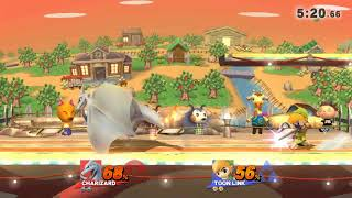 Online / With Friends / Smash Smashville Toon Link, Charizard.