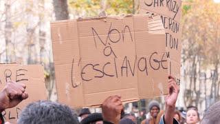 Rassemblement contre l'esclavage en Libye (24 novembre 2017, Ambassade de Libye, Paris)