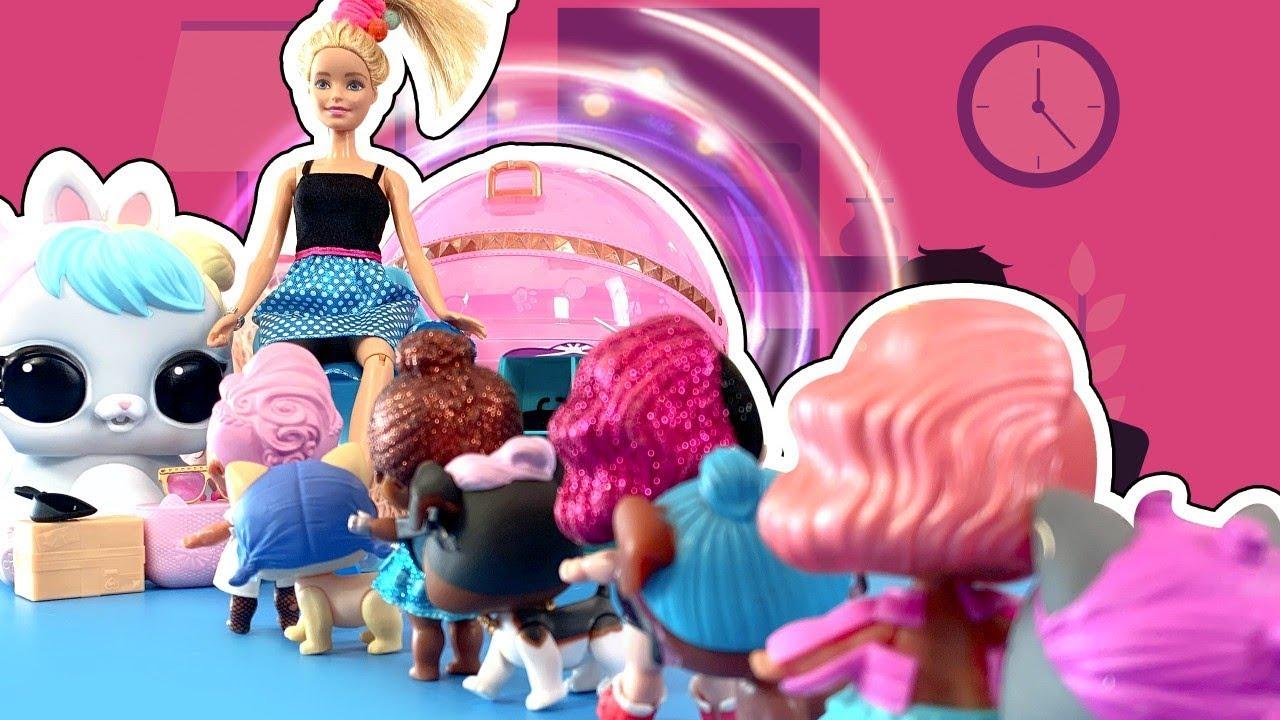 Барби и ЛОЛ поссорились? Барби ищет работу! Открываем ...