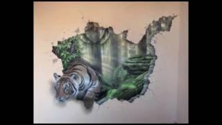 Роспись стены. Тигр-обманка.(Музыка: Ivan Torrent - Human Legacy Ivan Torrent - One of Us (feat Julie Elven) Ivan Torrent - Th3 Awak3n1ng Перед началом этой работы очень важным..., 2014-12-17T17:48:19.000Z)
