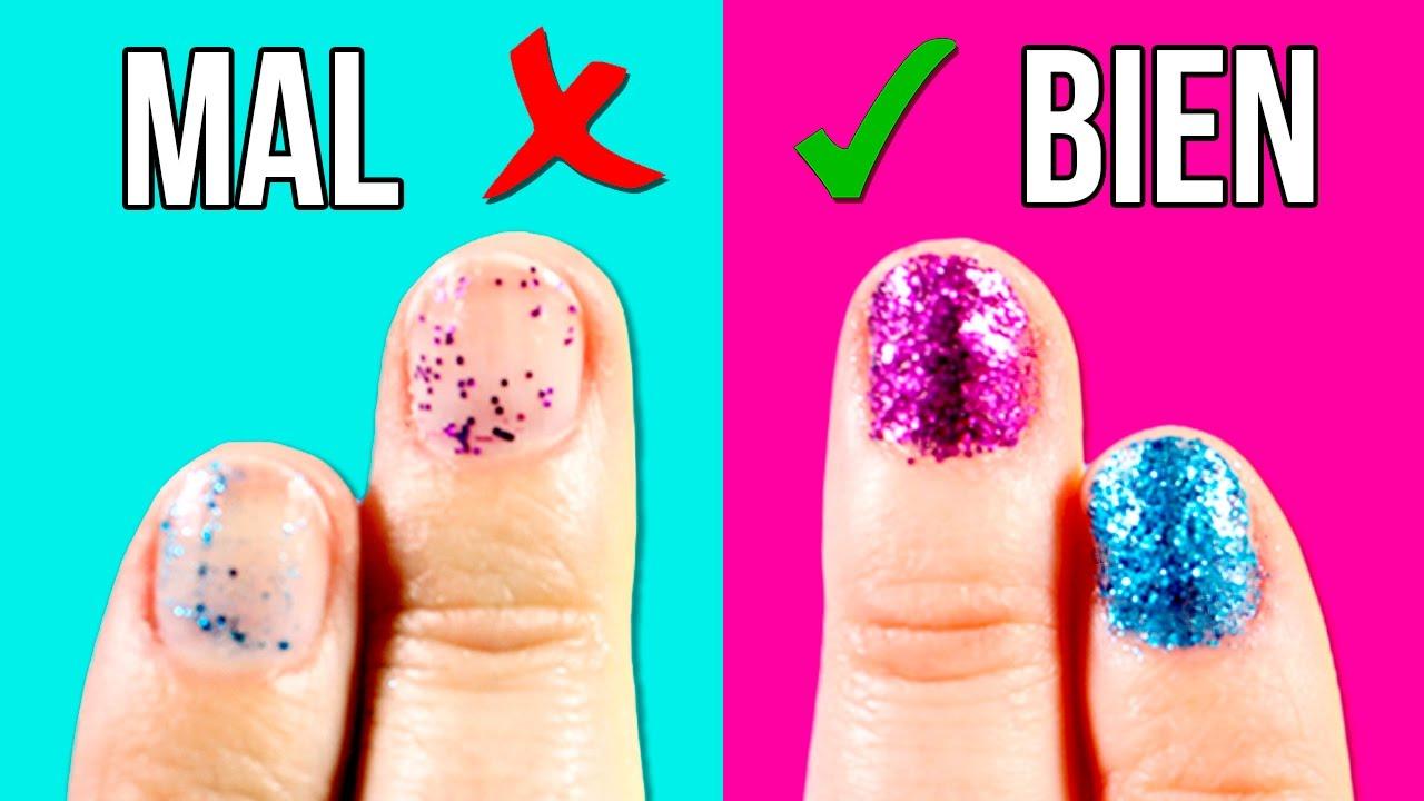 Cómo Pintarse Las Uñas Con Purpurina Correctamente 2 Trucos
