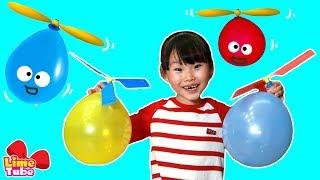 라임의 헬리콥터 칼라풍선 과학실험 장난감 놀이 LimeTube & Toy 라임튜브