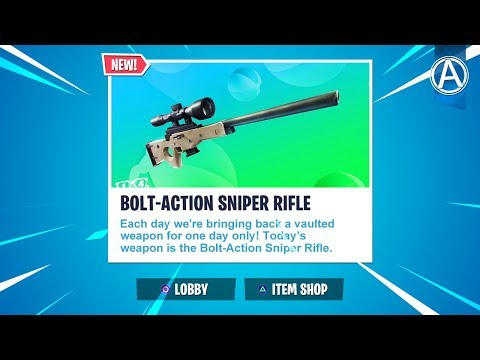 Bolt Action Sniper Rifle Unvaulted 2300 Wins Use Code Byarteer Fortnite Battle Royale Live Youtube