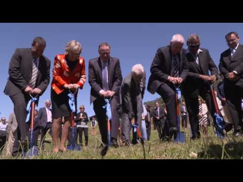 Hawaiki Cable - Groundbreaking ceremony - Mangawhai Heads