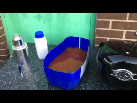 Rusty fuel tank repair motorbike car motorcycle  caused by Ethanol fuel see answer Custom Cruisers