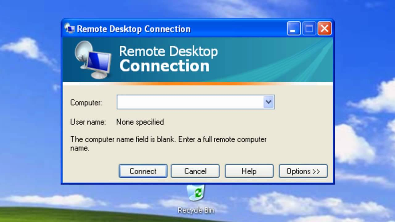 Windows xp remote desktop youtube for Window remote desktop