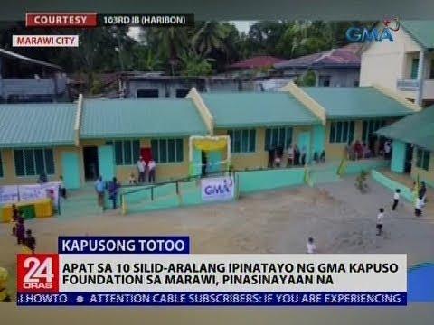 Apat sa 10 silid-aralang ipinatayo ng GMA Kapuso Foundation sa Marawi, pinasinayaan na