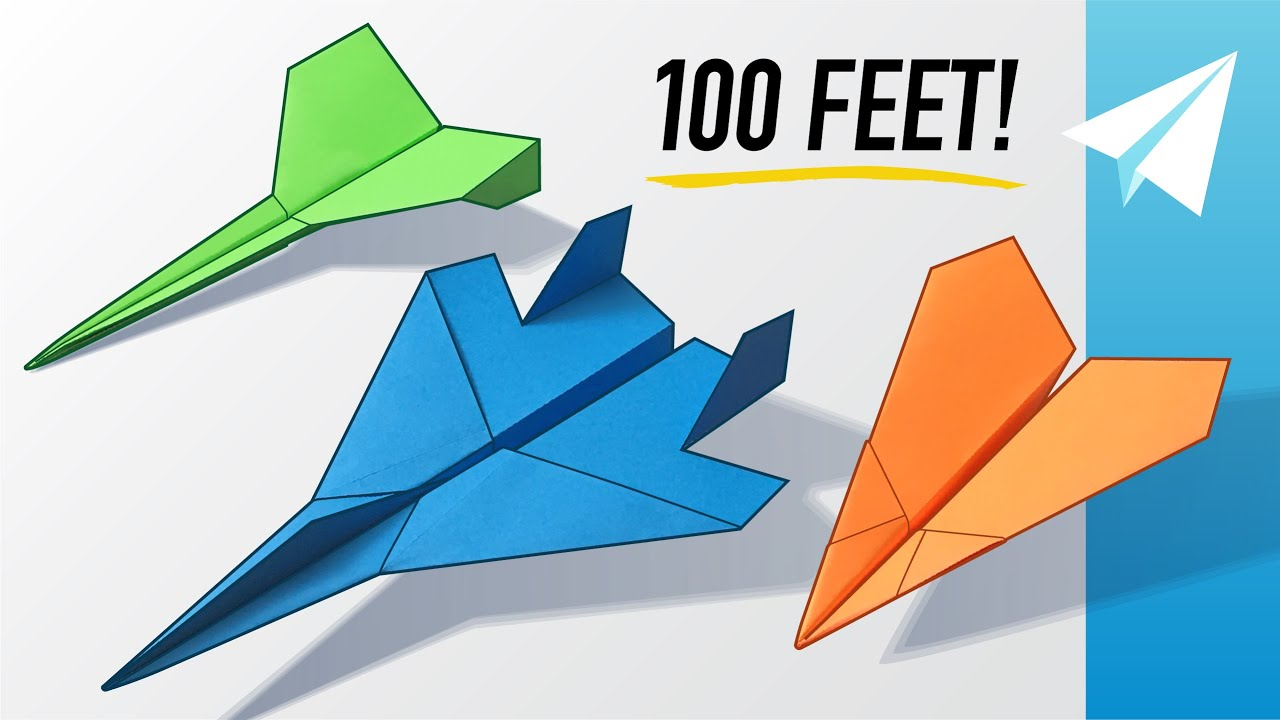 Download How to Make 3 EASY Paper Airplanes that Fly Far — Best Planes in the World — Dagger, F-15, Arrowhead