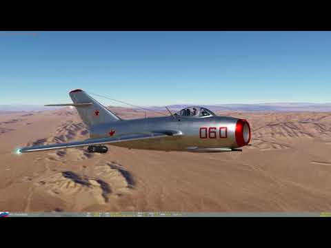 DCS World - Nevada 2.1.1 - Mig15 First look.