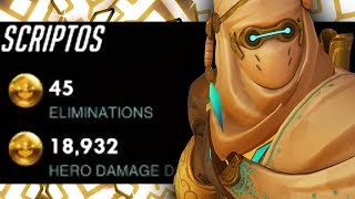 NECROS Best Genji! 45 ELIMS 19k DMG! [ OVERWATCH SEASON 16 TOP 500 ]