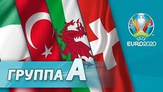 Группа А Италия Турция Уэльс Швейцария Евро 2020