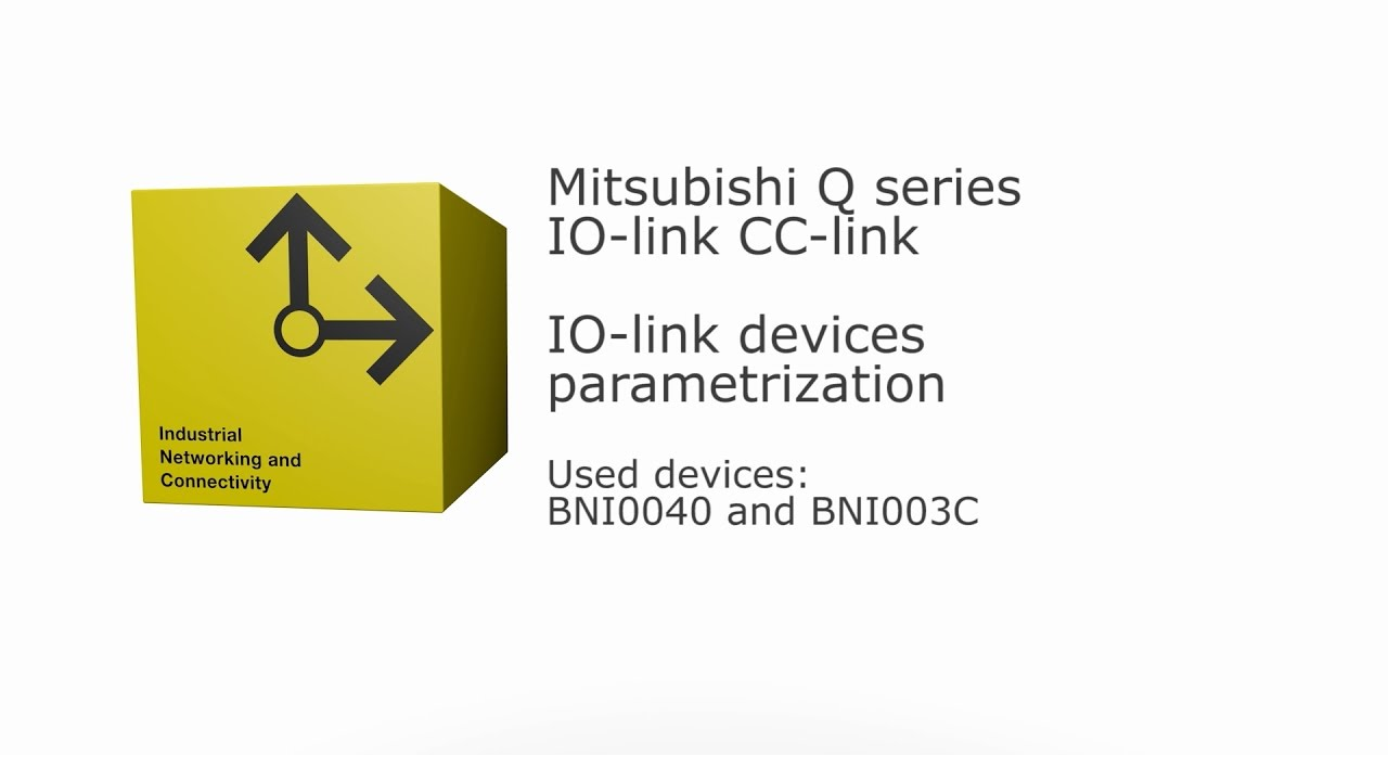 IO-Link Mitsubishi Q-series CC-link - IO-link devices parametrization