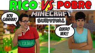 RICO vs POBRE MINECRAFT SURVIVAL | PEDRO MAIA