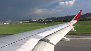 Taking off into the storm - AirAsia 5436 from Penang