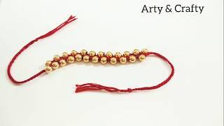 Friendship bracelets or Rakhi/How to make Pearl Bracelets at home/Thread Bracelets /Friendship Band