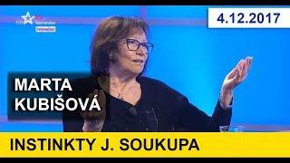 MARTA KUBIŠOVÁ v pořadu Instinkty Jaromíra Soukupa. 4.12.2017