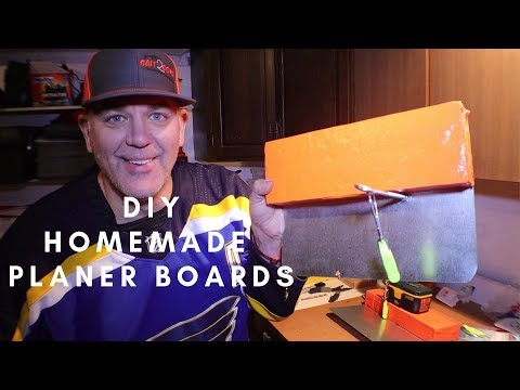 CHEAP DIY HOMEMADE PLANER BOARDS - MAKE YOUR OWN -  BAIT2BEND VERSION